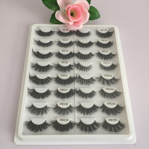 Other - 🔥16 Pairs 3D Mink False Lashes Long 22mm